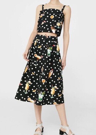 mango cocktail skirt set @porcelinasworld