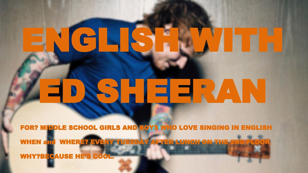 english with ed sheeran