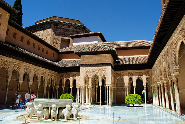 The Alhambra Court of the Lions, Granada Spain