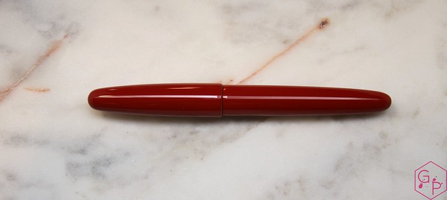 Review @Wancher Red Urushi Ebonite Fountain Pen.1