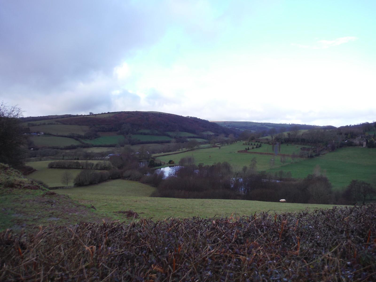 View up the Ysgir Valley, by Battle End Farm SWC Walk 306 - Brecon Circular (via Y Gaer, Battle and Pen-y-crug)