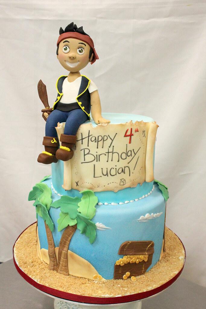 Groovy Jake Pirates Birthday Cake Oakleaf Cakes Flickr Personalised Birthday Cards Epsylily Jamesorg