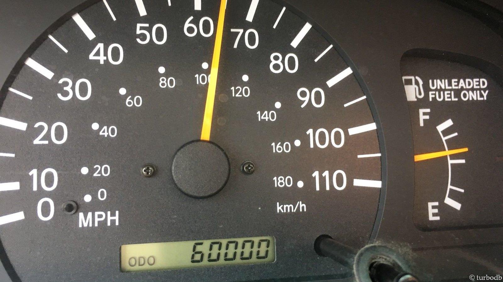 Mileage milestone - 60K