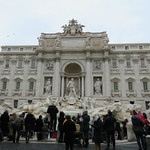The crowd at Trevi Fountain wears black - https://www.flickr.com/people/46464941@N07/