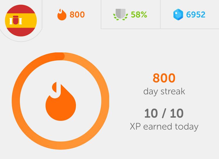 800 day streak