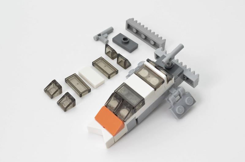 LEGO T-47 Snowspeeder - Micro Speeder Step 4