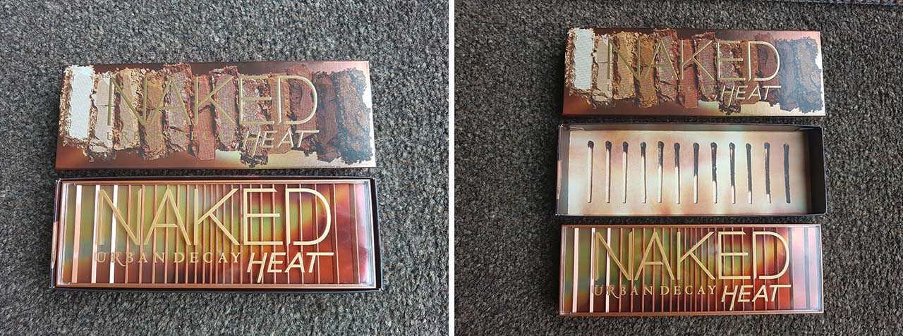 Urban Decay's Naked Heat Palette: A Hot Addition to the Naked Collection - Naked Heat Palette - I have to say, when I bought the palette, the packaging was gorgeous. I am a huge fan of burnt oranges, reds, maroons and browns so seeing the colours on the outer sleeve was an immediate pull.