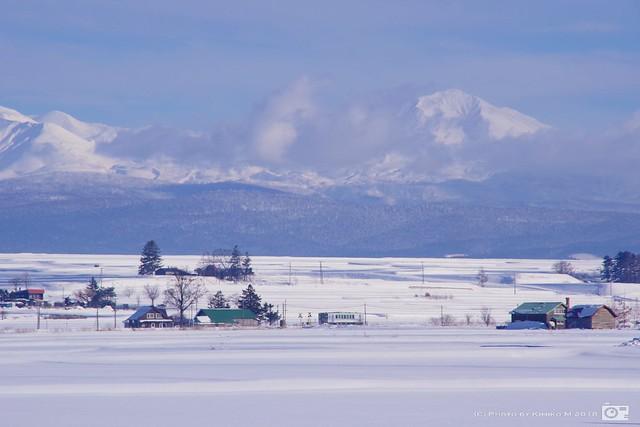 大雪山旭岳と富良野線