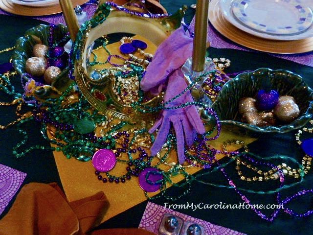 Mardi Gras Tablescape at From My Carolina Home