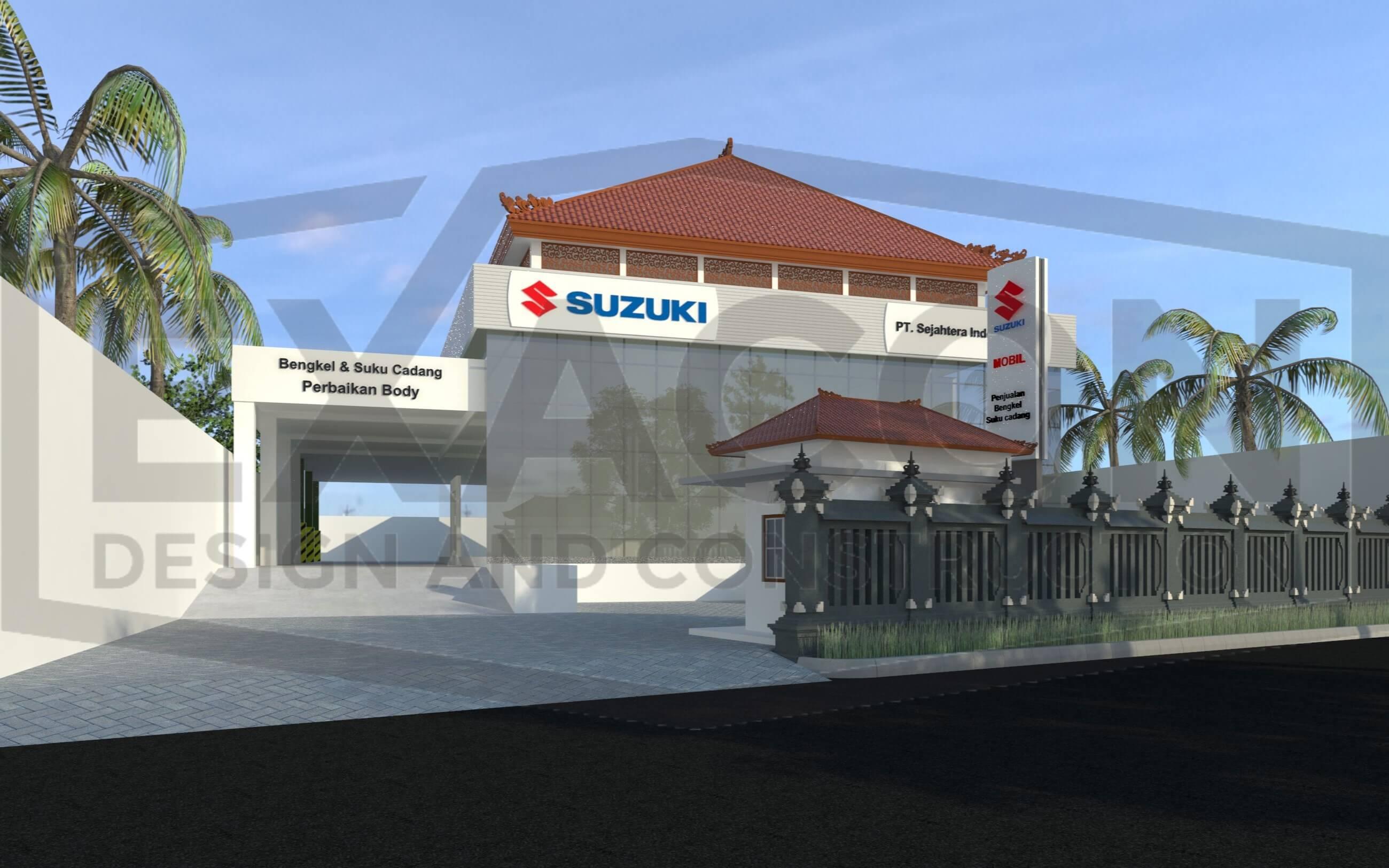 Proyek Desain Kantor Dealer Suzuki Bapak Tri Jakarta Selatan