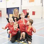 Schoolvolleybaltoernooi 2018 jongens teamfoto's