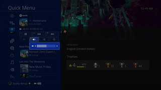 PS4 System Software Update 5.50: Quick Menu - Music shortcut | by PlayStation.Blog