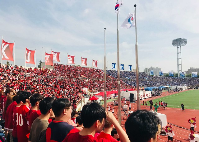 於高延戰比賽現場,觀賞熱血的足球與橄欖球賽。