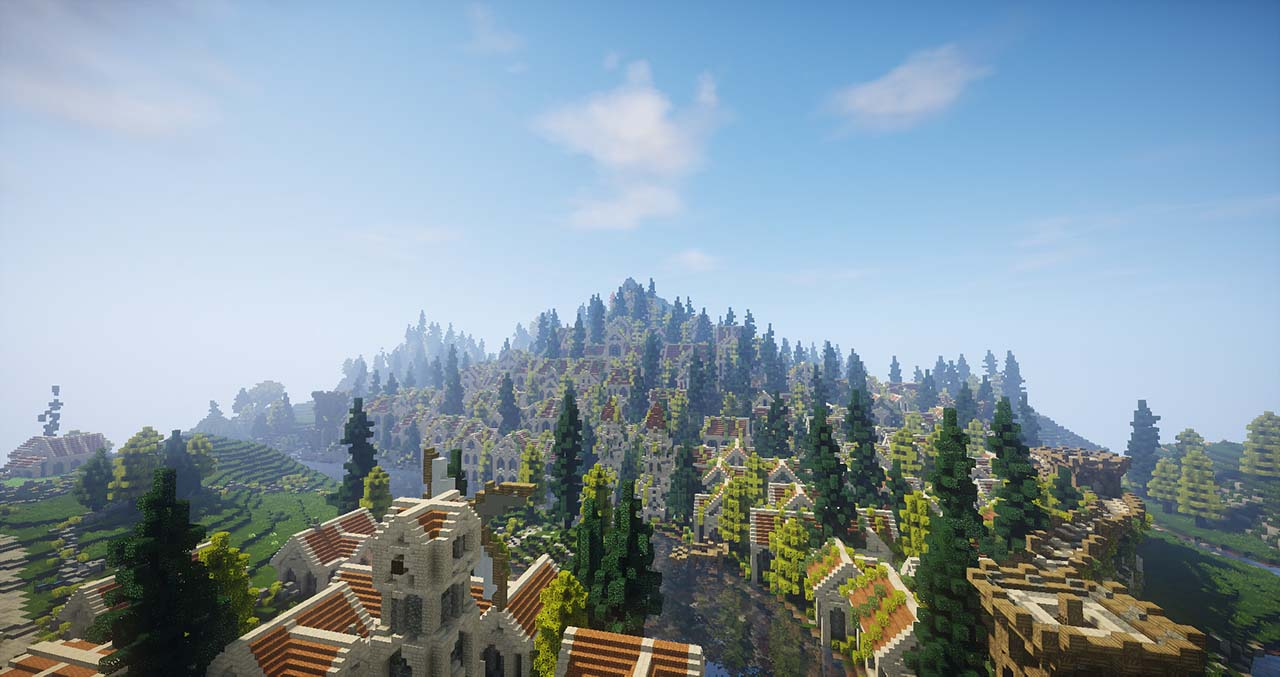 Minecraft Middle Earth By @mcmiddleearth: Calembel – A Town In Gondor