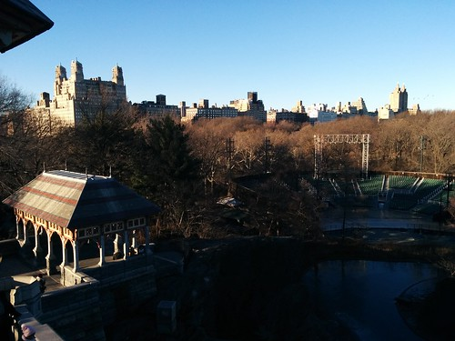 Looking west across Turtle Pond #newyorkcity #newyork #manhattan #centralpark #skyline #turtlepond #belvederecastle #upperwestside #winter #latergram