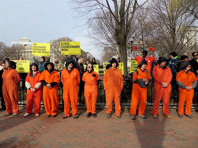 Close Guantanamo: Witness Against Torture campaigners face the White House