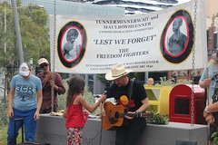 Les Thomas sings a song to remember the freedom fighters at Commemoration of Tunnerminnerwait and Maulboyheener - IMG_2796