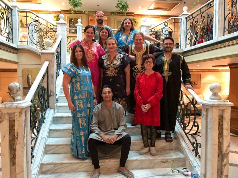 Intrepid group on Nile cruise