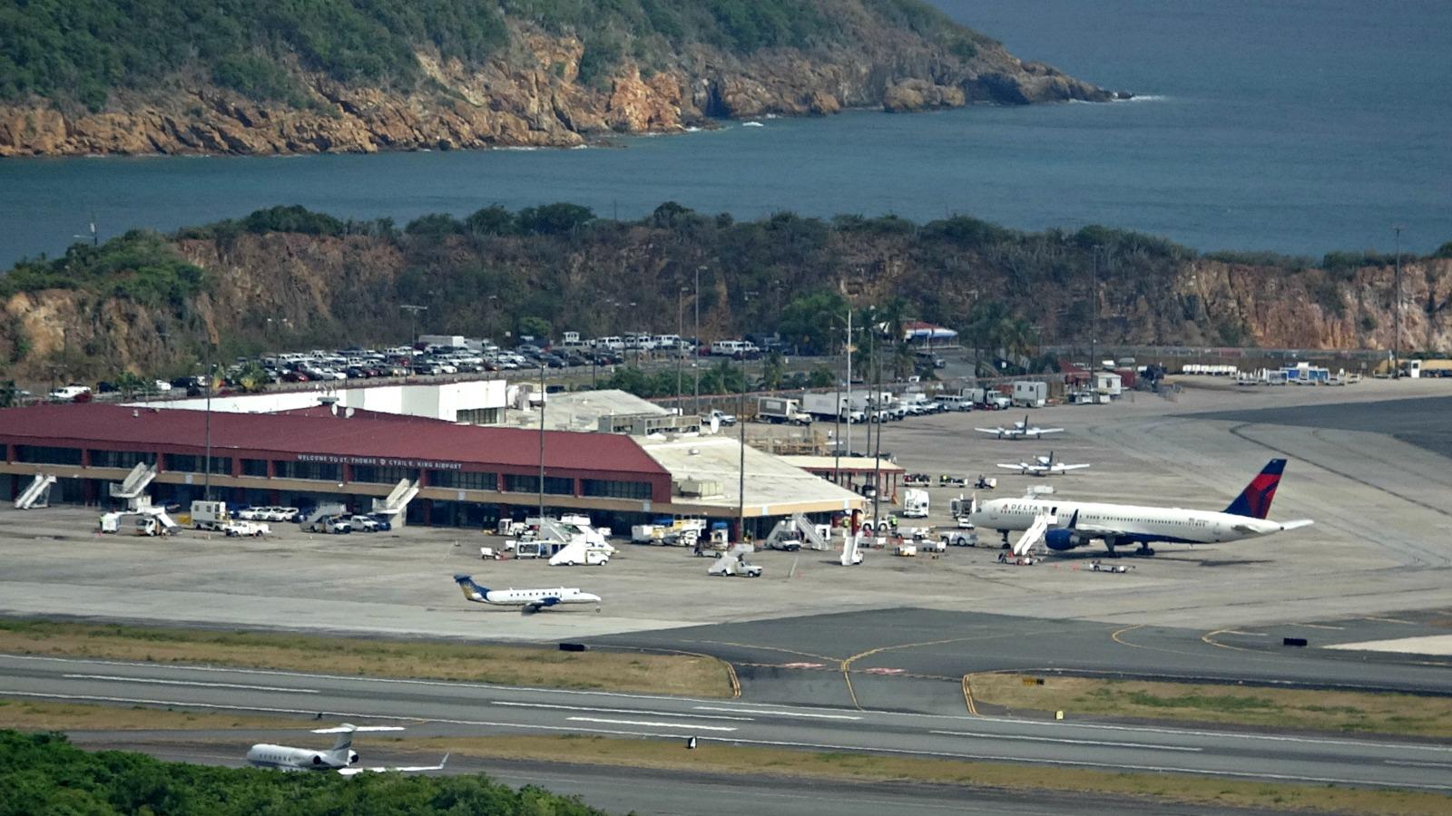 Present-day Terrance B. Lettsome International Airport, formerly Beef Island Airport, British Virgin Islands.