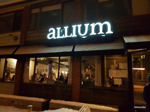 Allium restaurant storefront
