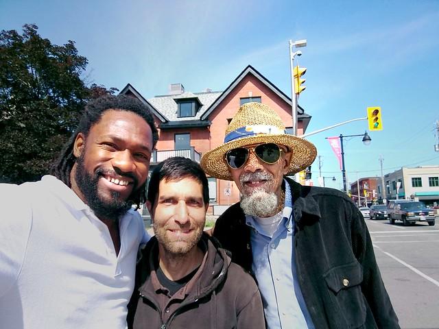Jalal Mansur Nuriddin, Jamaal Jackson Rogers and me.