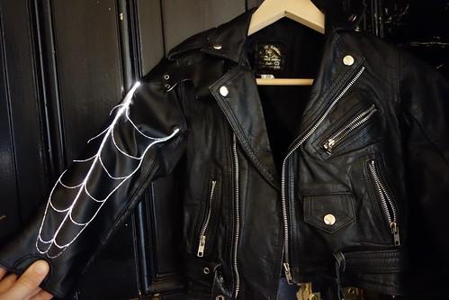 Fiber optic spider web jacket
