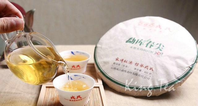 2017 MengKu ChunJian Spring Bud Cake 400g Puerh Raw Tea Sheng Cha