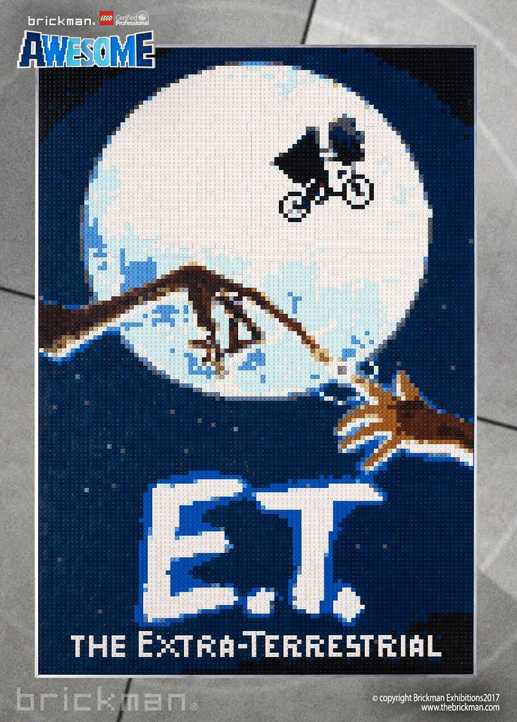LEGO® brick E.T. movie poster
