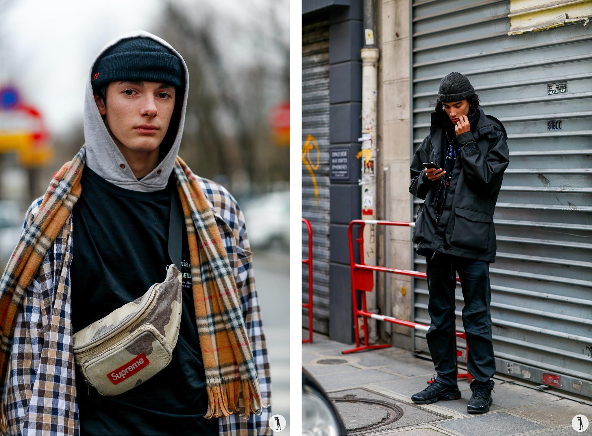 Street style -PFW Menswear FW18-19