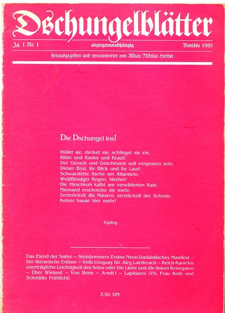 Dschungelblätter 1 (1985)
