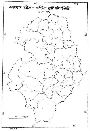 बस्तर जिला सर्वेक्षित कुएँ की स्थिति
