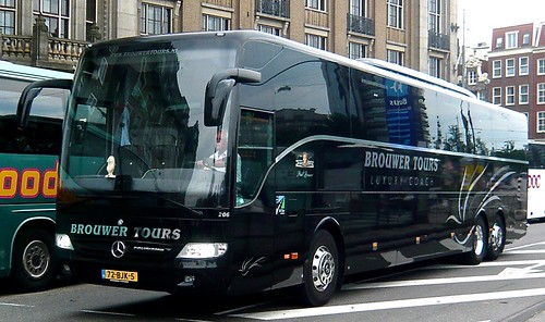 72-BJK-5 'Brouwer's Tours', Nordwijk, Holland No. 206. Mercedes-Benz Tourismo x 6 on 'Dennis Basford's railsroadsrunways.blogspot.co.uk'