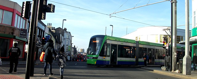 Tramlink unit 2558 on, Fujifilm FinePix AV130