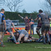 Hallam Chapman celebrates after scoring for Sedgley-7295