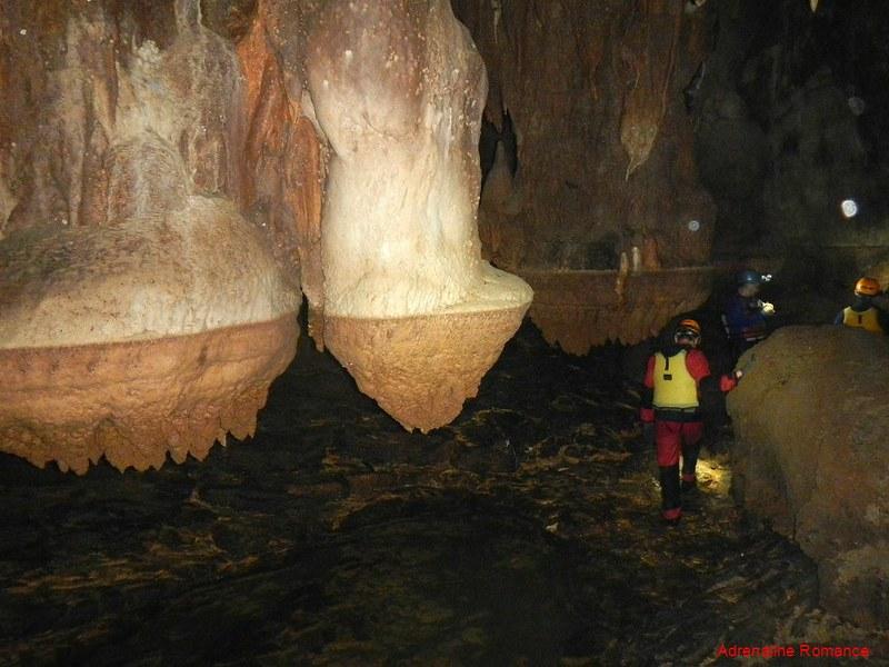 Strangely formed stalagmites