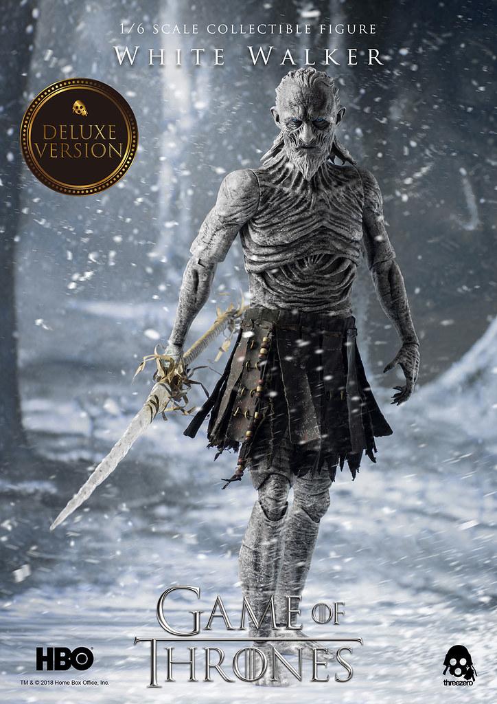 這皮膚細節實在太驚人啦~ threezero《冰與火之歌:權力遊戲》異鬼 Game of Thrones White Walker 1/6 比例可動人偶作品 普通版 / 豪華版