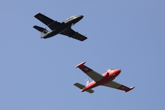 G-BYCT L-29 Delfin and G-BWGF Jet Provost T.5A