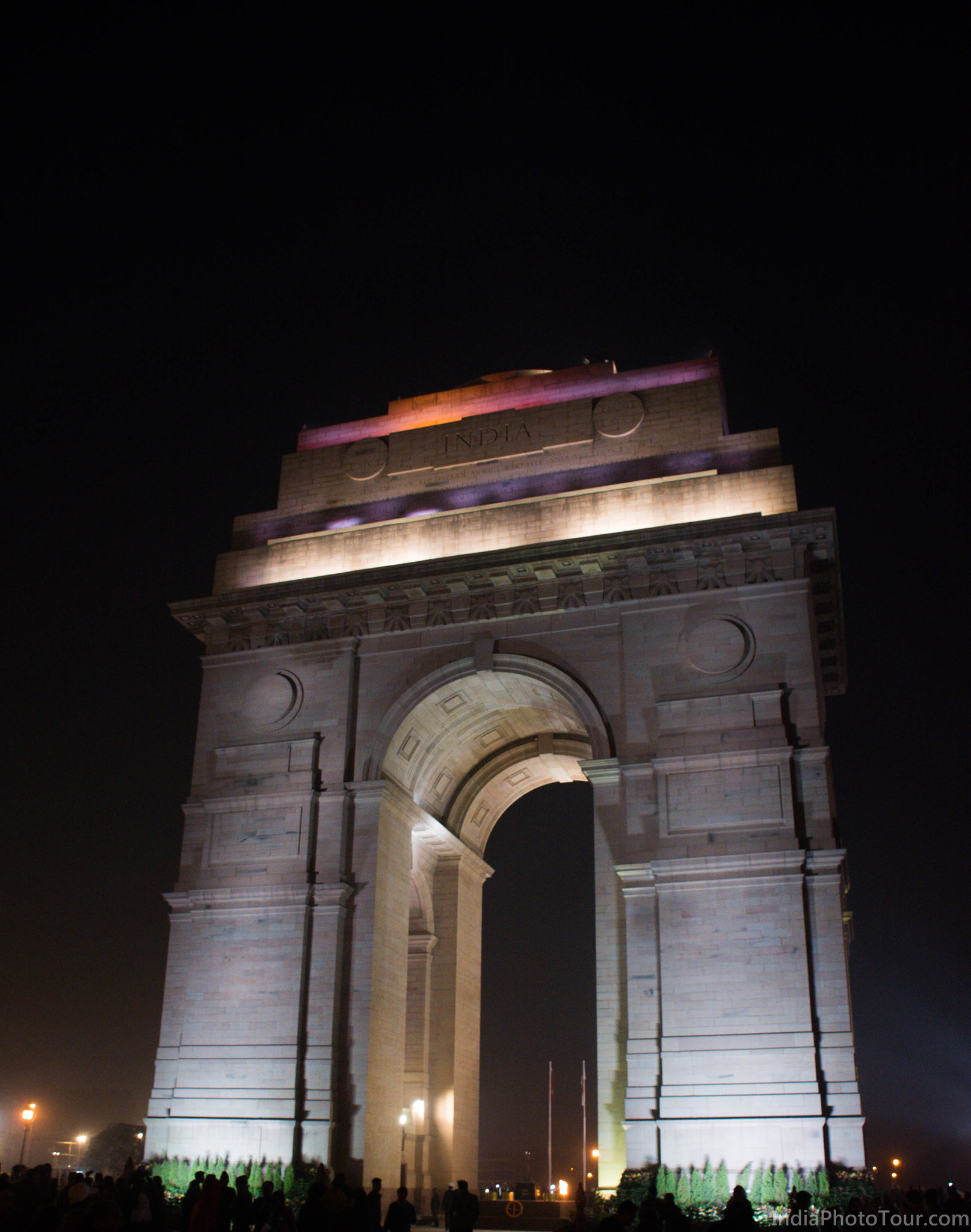 Ending the tour at India Gate in evening