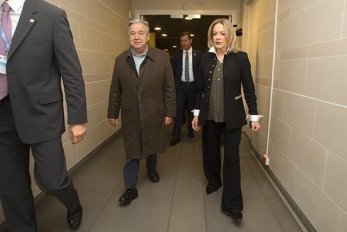 Llegada del Secretario General de las Naciones Unidas a Colombia