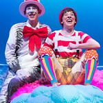 Seussical at the Arvada Center - L-R: Ben Griffin (Cat) and Melissa Morris (Jojo). Matt Gale Photography 2018