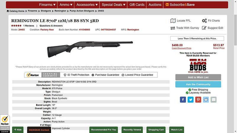 Cloning the Chris Baker (Lucky Gunner) Remington 870P SBS