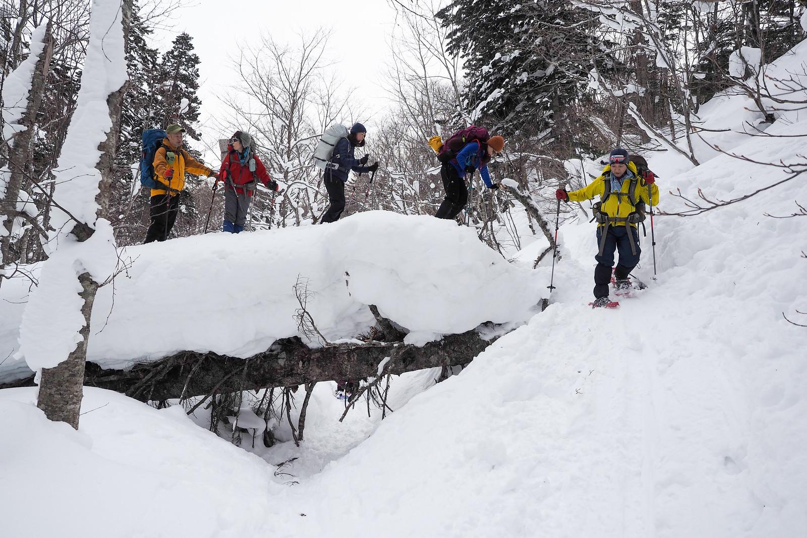 Bankei-sanso Hut annual snow clearing (Hokkaido, Japan)