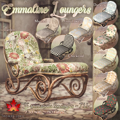 Trompe Loeil - Emmaline Loungers for The Arcade March