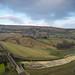 Butterley Reservoir & Marsden CC, Netherley & Pule Hill from Binn Lane near Ing Lees, Marsden,  W. Yorkshire