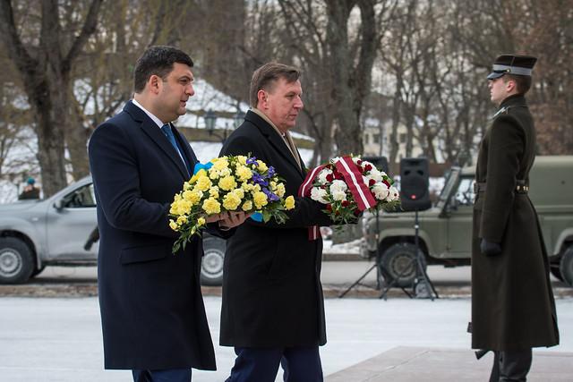 Ministru prezidents M. Kučinskis tiekas ar Ukrainas premjerministru Volodimiru Groismanu