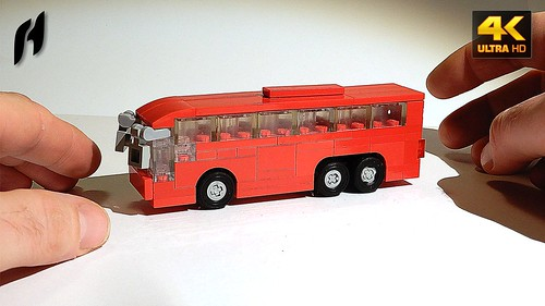 How to Build a Lego Tri-axle Bus (MOC - 4K)