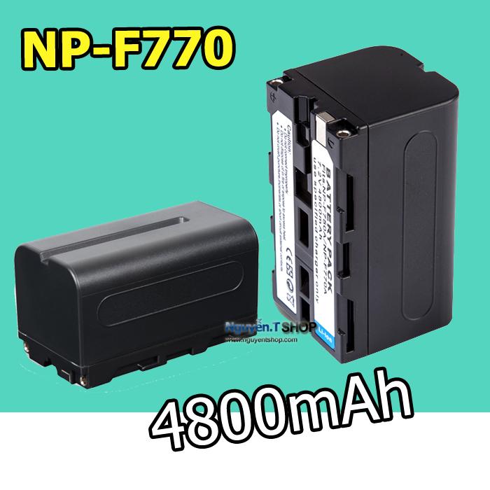 Pin NP-F750/F770 dung lượng 4800mAh cho LED Yongnuo YN300 YN600 YN900