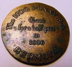 Bermuda Hog Penny Pub Good-For Token reverse