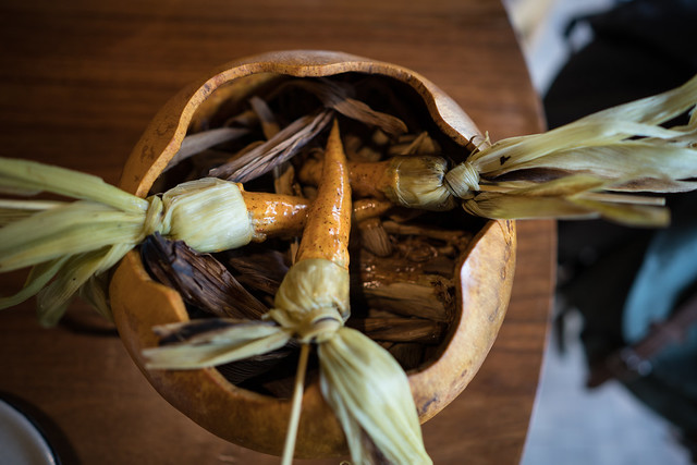 Corn in a Gourd at Pujol