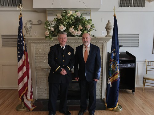Mayor Madden and Troy Assistant Police Chief Daniel DeWolf